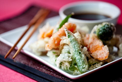 Vegetable tempura.  Photo from http://veganyumyum.com/