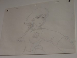 One of Miyazaki's original sketches of Nausicca of the Valley of the Wind