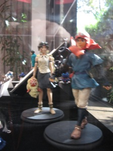 Some Princess Mononoke figurines that probably cost an arm and a leg.