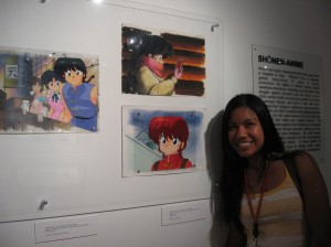 Diane with her favorite anime, Ranma 1/2.